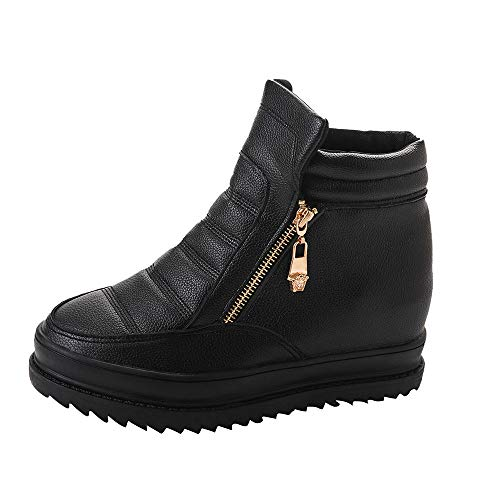 Londony ♪✿ Clearance Sales,Women's Winter Snow Boots,Zipper Wedge Plush Lining Slip On Ankle Boots by Londony