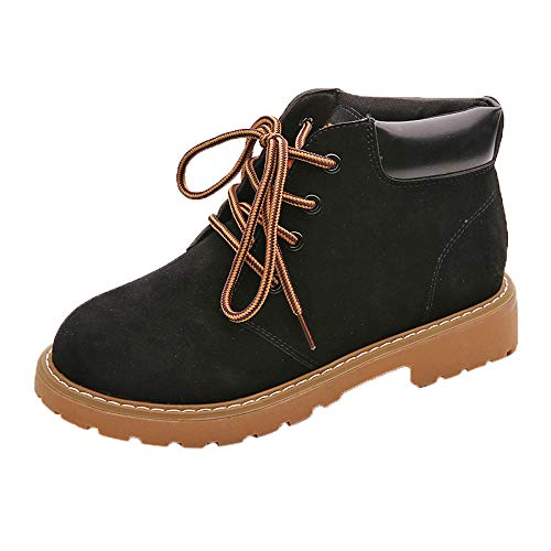LIM&Shop ⭐ Women's Sneaker Boots Waterproof High Top Shoes with Lace Up Anti-Slip Yellow Black Garden Shoes Faux Leather (Best Selling Psp Games Of All Time)
