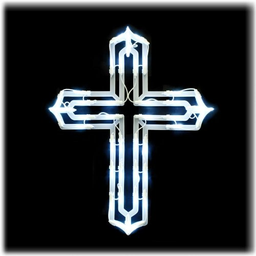 Lighted Window Cross decoration LED