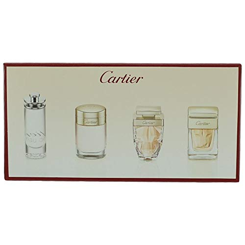 Cartier Variety By Cartier For Women 4 Piece Mini Variety Set With Baiser Vole Edp & Eau De Cartier Edt & Cartier La Pan