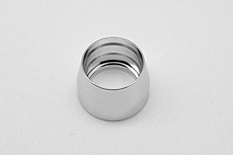 Pack of 5 Silver Autobahn88 Aluminum Olive Insert fits for PTFE Teflon Fuel Line Hose End 10AN
