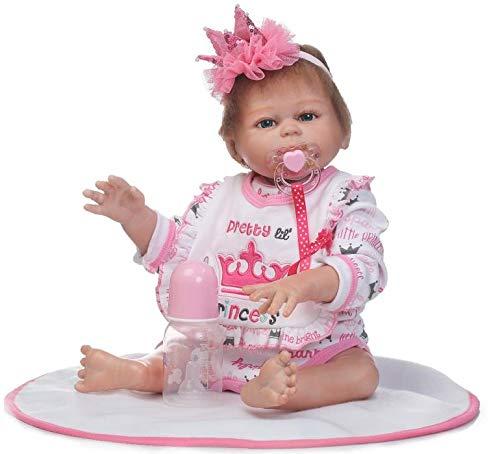 Pinky 20 Inch 50cm Lifelike Reborn Baby Dolls Full Body Vinyl Silicone  Newborn Baby Dolls Toddler cfc29263823a