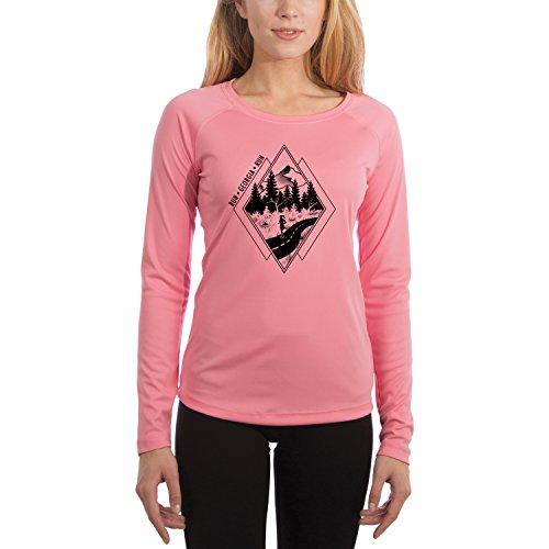 Diamond Runner Georgia Women's UPF 50+ Long Sleeve T-Shirt X-Small Pretty Pink Georgia Womens Pink T-shirt