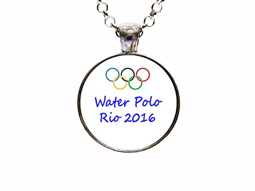 Water Polo Olympics - Water Polo Olympic Rio 2016 Pendant Necklace or Keychain Patriotic Athlete USA American