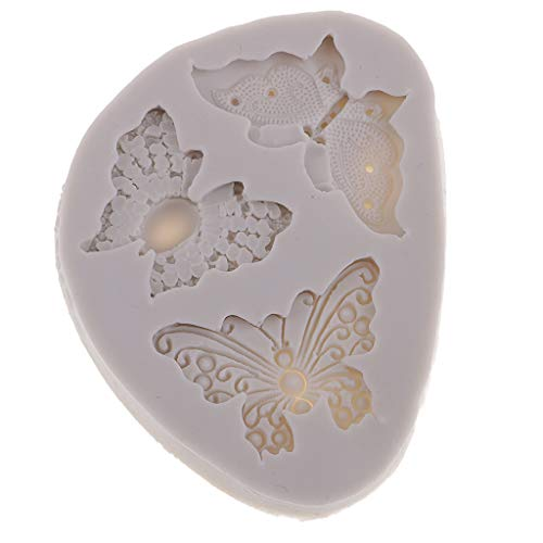 Butterfly Clay Mold - Prettyia Butterflies Silicone Candy Mold for Cake Decoration, Cupcake Decorate, Polymer Clay, Crafting, Resin Epoxy, Jewelry Making 97 x 72 x 11 mm