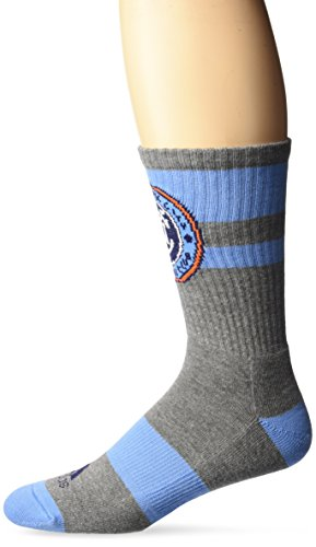 fan products of MLS New York City FC Men's SP17 Athletic Crew Socks, Gray, Size 9-11