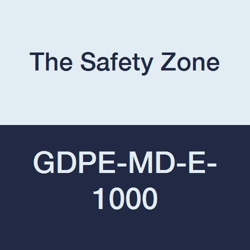 The Safety Zone GDPE-MD-E-1000 Powder Free Polyethylene Gloves, Embossed Grip, High Density, Latex Free, Medium, Clear (Pack of 1000)