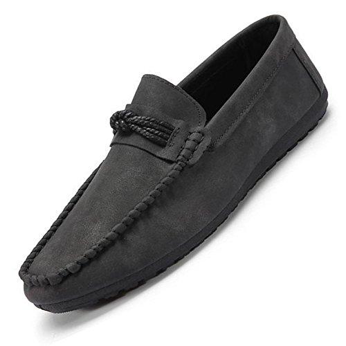 grandi in casual di Mocassini grande scarpe le da taglia di dimensioni pelle formato particolare allacciano uomo Nero in Bebete5858 wxYzTqCIw
