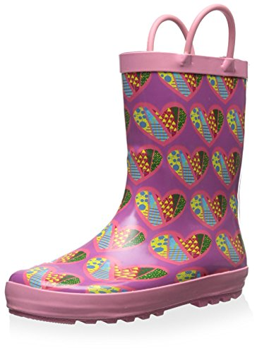 Lilly of New York Kid's Heart Rainboot, Pink Multi, 5 M US Toddler