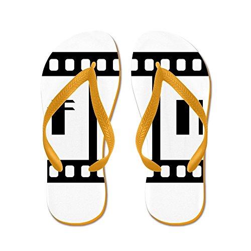 Virkelig Teague Menns Fin: Gamle Hollywood Film Slutter Gummi Flip Flops Sandaler Oransje