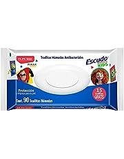 Escudo Antibacterial Kids, Toallitas Húmedas Antibacteriales Para Manos, 75 pzas + 15 Toallitas Gratis, Para Niños, 99.9% Libre de Bacterias