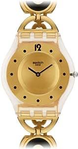 Swatch Women's SFW106G Caring Swing Year-Round Analog Quartz Gold Watch