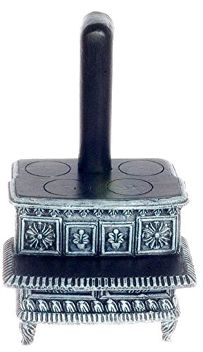 Dollhouse Miniature 1:12 Scale Tarnished Black and Gray Lincoln Stove #T6698 - Lincoln Stove