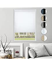 HOMEDEMO Cellular Honeycomb Blind Single Cell Pleated Shades Cordless Room Darkening Inside & Outside Mount for Windows