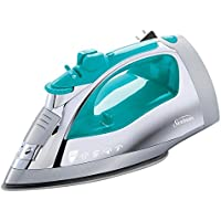 Sunbeam Steam Master Iron with Anti-Drip Non-Stick Stainless Steel Soleplate (Chrome & Teal)