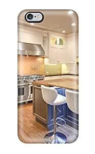 Brand New 6 Plus Defender Case For Iphone (large Open Transitional Kitchen With White Cabinetry)