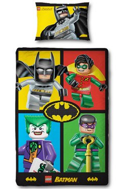 Character Uk Lego Batman Parure De Lit Cards 135 X 200 75 X 50