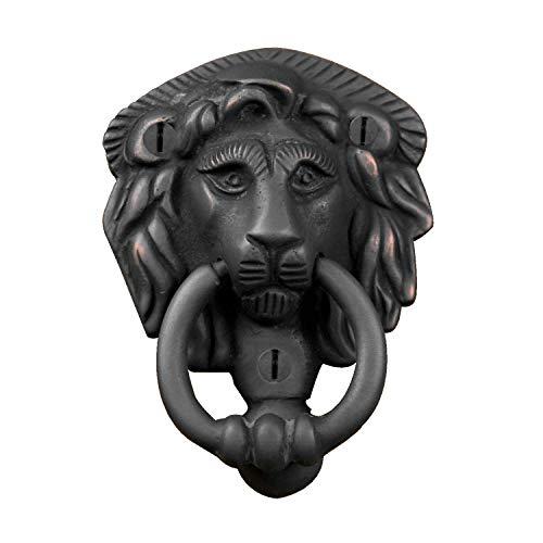 Naiture Brass Noble Lion Door Knocker In Dark Oil Rubbed Bronze Finish