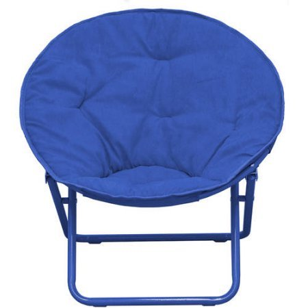 American Kids Solid Faux Fur Saucer Chair (Navy)