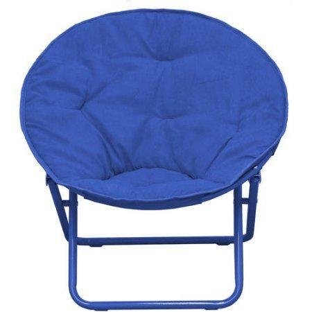 Bon American Kids Solid Faux Fur Saucer Chair, Navy