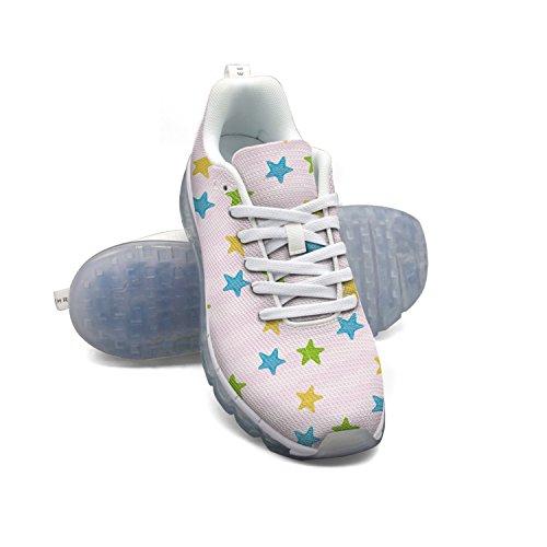2014 cheap price FAAERD Cartoon Sea Star Pattern Men's Breathable Mesh Running Shoes Air Cushion Casual Walking Sports Outdoor Sneakers clearance 2014 clearance new cheap sale get authentic cheap visit Eu0aH