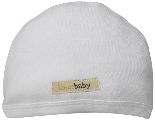 L'ovedbaby Unisex-Baby Newborn Organic Cute Cap, White, 3/6 Months