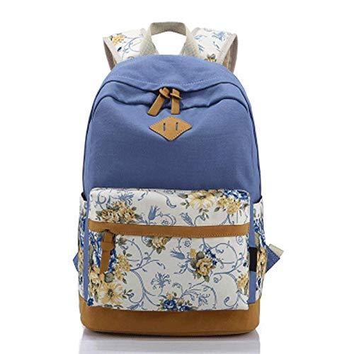 Cute Kids Rucksack Bookbags Rucksack für Mädchen, leichte Leinwand Laptop Rucksack Schultaschen