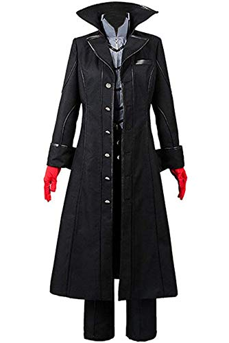 cossun Persona 5 Dancing Star Night Joker Protagonist Akira Kurusu Cosplay Costume Suit (S)]()