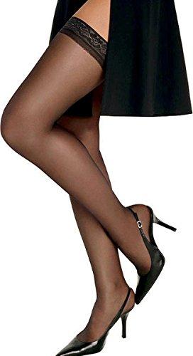 Hanes Womens Silk Reflections Silky Sheer Thigh High Jet