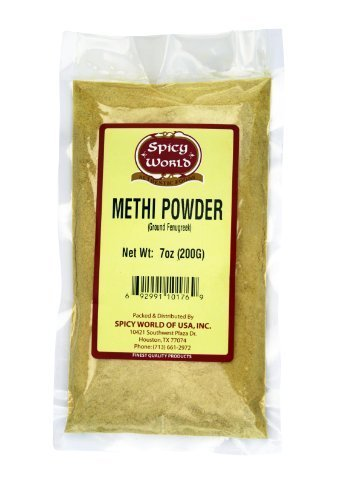 Spicy World Fenugreek (Methi) Powder 7 Ounce (7 Ounce Pure Aloe)