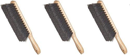 Weiler 44354 Counter Duster, Flagged Silver Polystyrene Fill, Wood Block, 8'' Brush Length (3-(Pack)) by Weiler