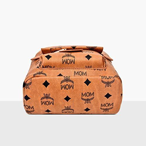 De Handbag Bolsos Wild Mochila Yellow Vintage Hombro Señoras NSSTB Imprimir qIfXX8