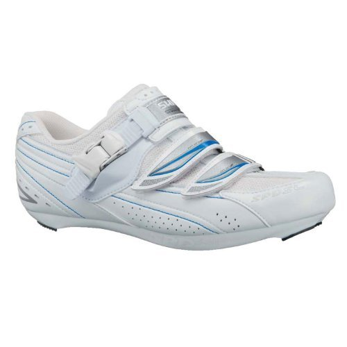 Shimano Women's SH-WR41 Club & Recreational Riding Shoes White/Blue-41.0 by Shimano