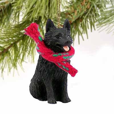 Schipperke Miniature Dog Ornament