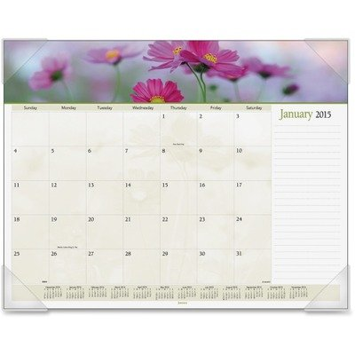 Visual Desk Pad Organizer - AT-A-GLANCE Visual Organizer Recycled Floral Panoramic Desk Pad, 22 x 17-Inches, 2012 (89805)