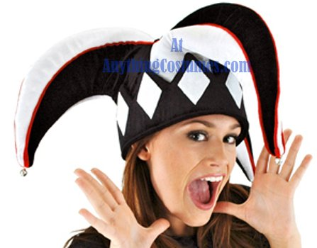 elope Court Jester Hat, Black, One Size (Jester Hat)