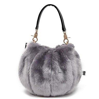 Sacs femmes sac fourrure hiver fourrure / plumes bleu ciel occasionnel pour le shopping Vert clair Orange Rouge Rose gris YIUXB