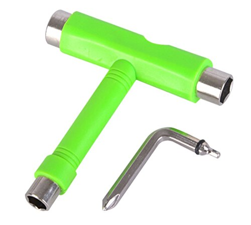 All-In-One Skate Tools T-Tool - Multi-function and Portable Skateboard T Tool for Peny Borad and Longboard Screwdriver ...