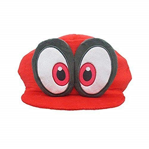 Dream-team Cute Odyssey Cosplay Hat Super Mario Bros Cappy Cap Red Cappy (Mario's Hat) Plush ()
