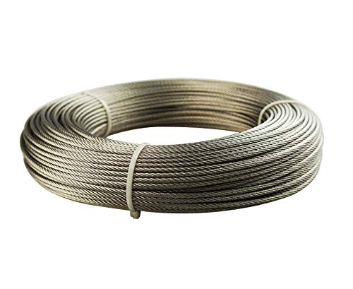 Muzata Stainless Aircraft Steel Wire Rope Cable for Railing,Decking, DIY Balustrade, - Kits Railing Metal