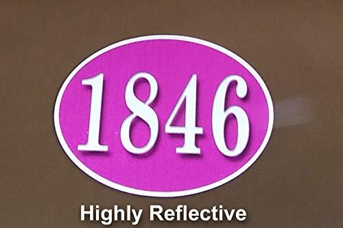 West Coast Curb-N-Sign Oval Reflective Address Plaque (White) by West Coast Curb-N-Sign (Image #3)