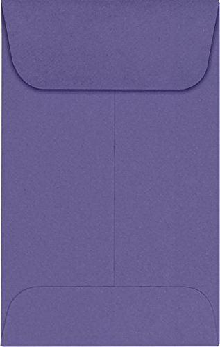 #1 Coin Envelopes (2 1/4 x 3 1/2) – Wisteria (1000 Qty.) | Perfect for the HOLIDAYS, Weddings, Parties & Place Cards | Fits Small Parts, Stamps, Jewelry, Seeds | LUX-1CO-106-1M