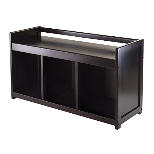 Winsome Wood Addison Storage Bench with 3 Sections
