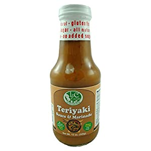 Low Carb Teriyaki Sauce & Marinade - LC Foods - All Natural - Paleo - Gluten Free - No Sugar - Diabetic Friendly - 12 oz