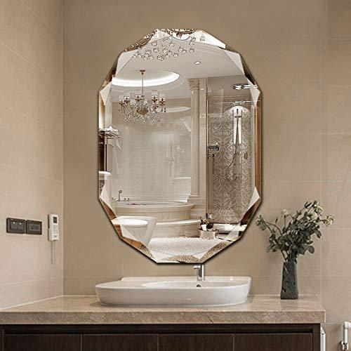Oval Frameless Bathroom Mirror, Beveled Mirror, Vanity Mirror Makeup Mirrors, Decorative Mirror -