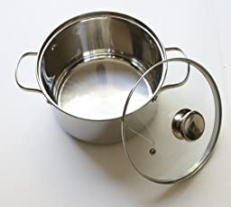Cook N Home NC-00313 4QT(20CM) Double Boiler and Steamer Set, Stainless Steel