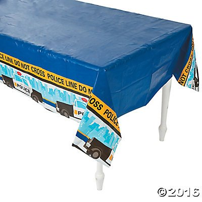 [Police Party Tablecloth Plastic Table Cover - 54