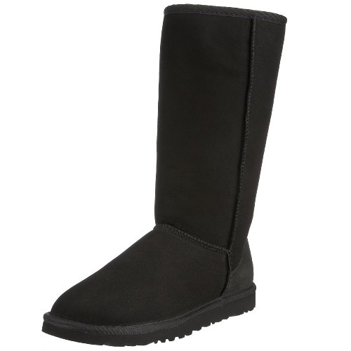 Ugg Women's Classic Tall Boot, Black, 8 M US - Ugg Boots Wedges Women
