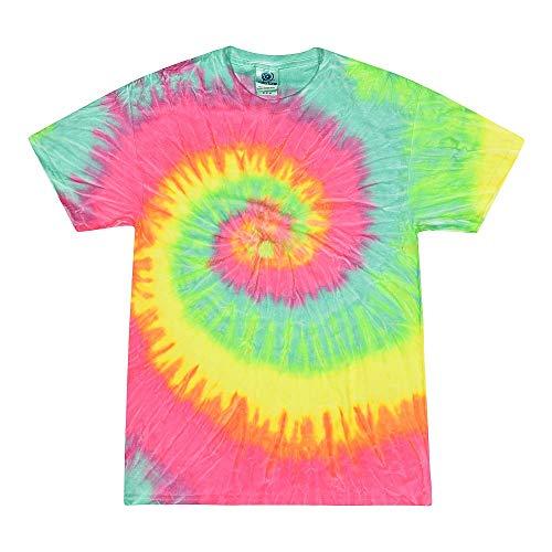 Rainbow Hand Dyed Tie Dye - Colortone Tie Dye 3X Minty Rainbow