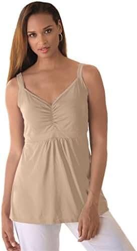 Jessica London Women's Plus Size Shirred Tank
